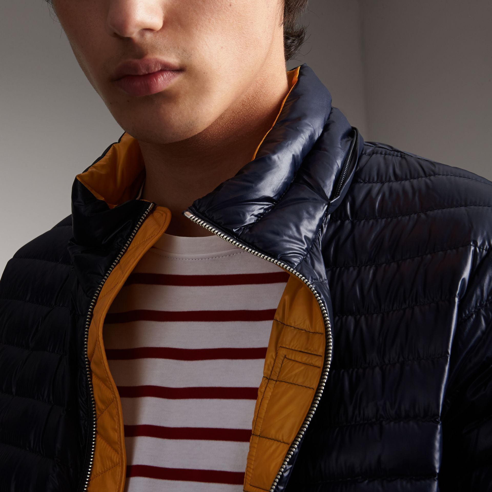 Packaway Hood Down-filled Puffer Jacket in Navy - Men | Burberry - gallery image 5