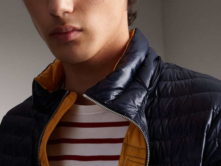 Packaway Hood Down-filled Puffer Jacket in Navy - Men | Burberry - cell image 4