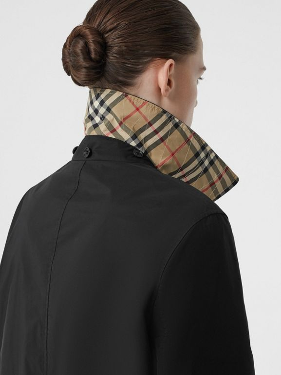 Detachable Hood Shape-memory Taffeta Car Coat in Black - Women | Burberry United Kingdom - cell image 1