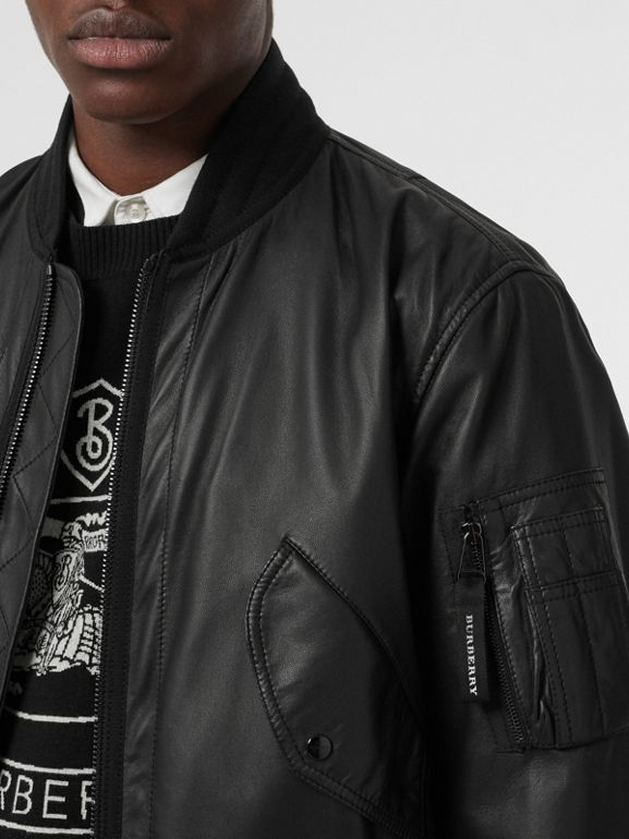 Lambskin Bomber Jacket in Black - Men | Burberry - cell image 1