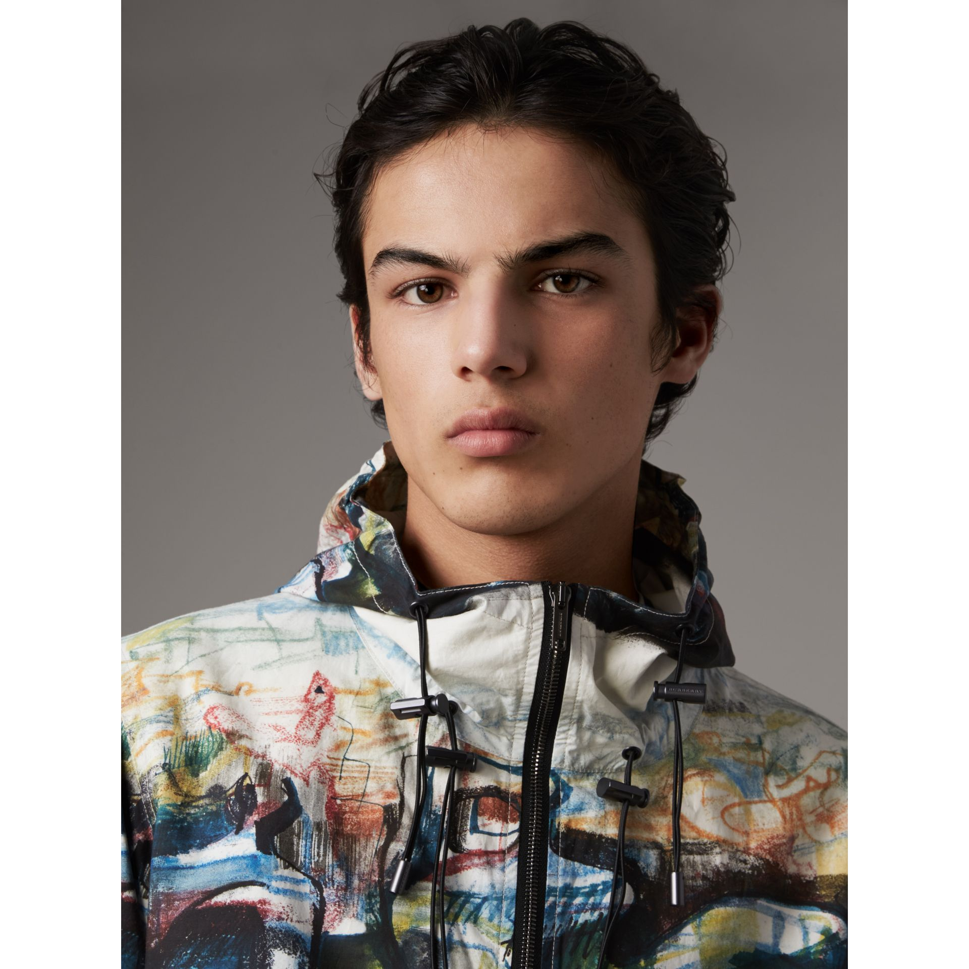 Reclining Figure: Bunched Print Hooded Jacket - Men | Burberry - gallery image 2