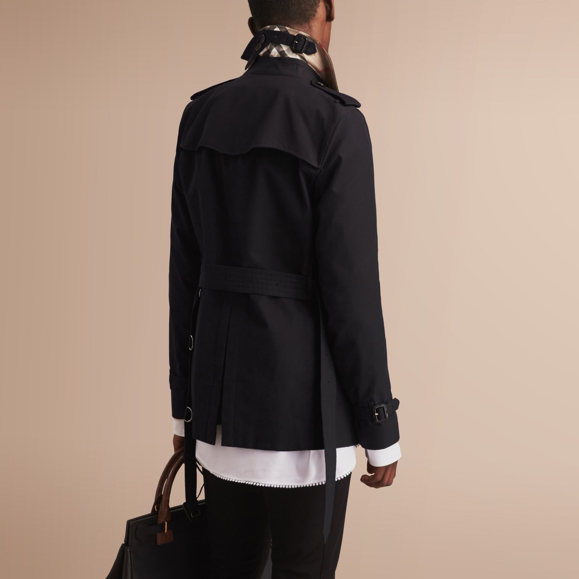 The Kensington – Short Heritage Trench Coat Black - gallery image 3