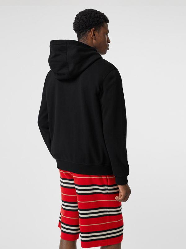 Union Jack Photo Print Cotton Hoodie in Black - Men | Burberry - cell image 2