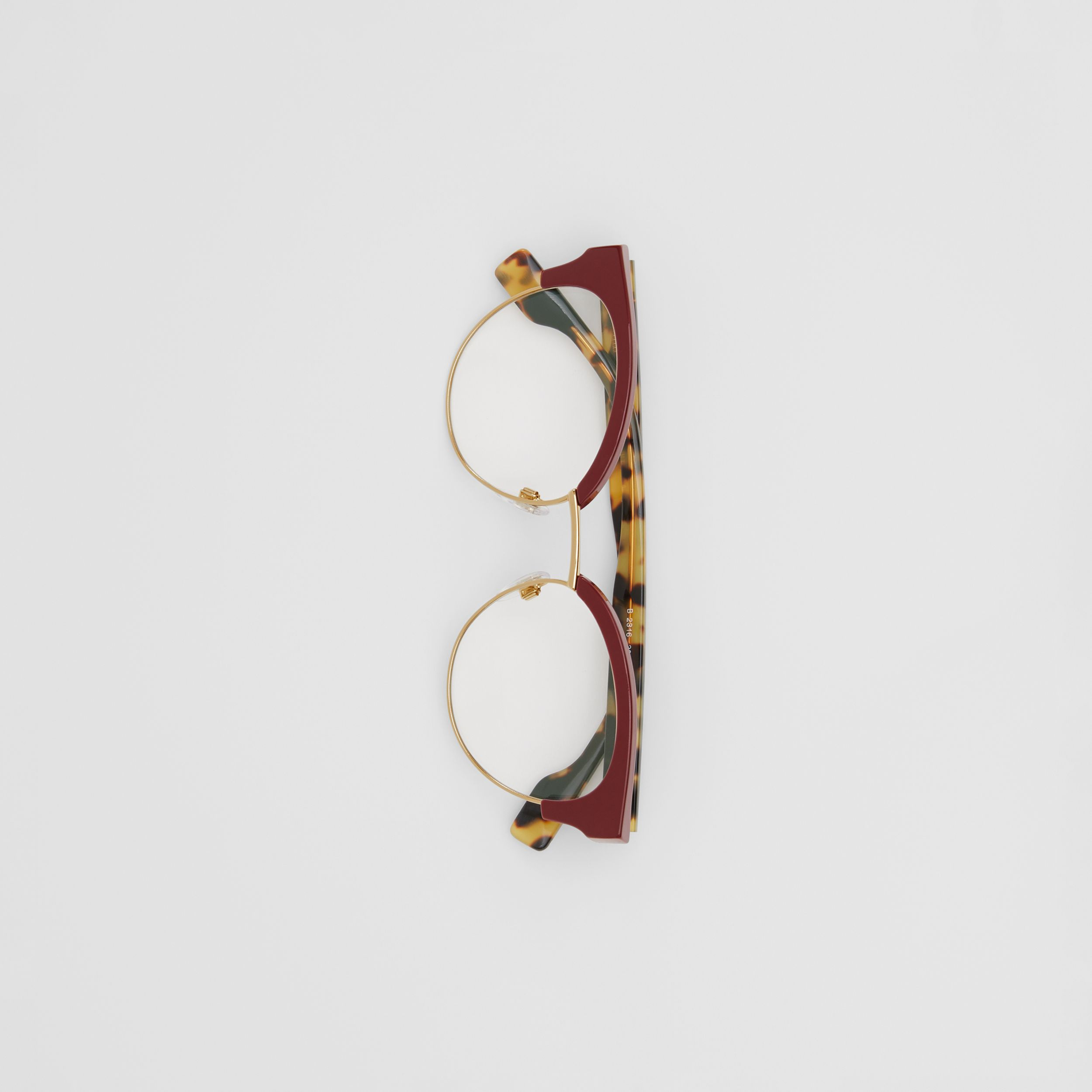 Cat-eye Optical Frames in Burgundy - Women | Burberry - 4
