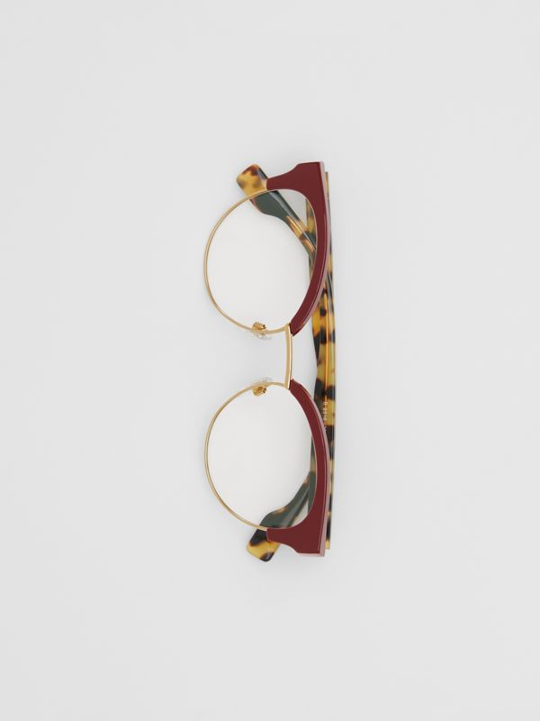 Cat-eye Optical Frames in Burgundy - Women | Burberry Australia - cell image 3