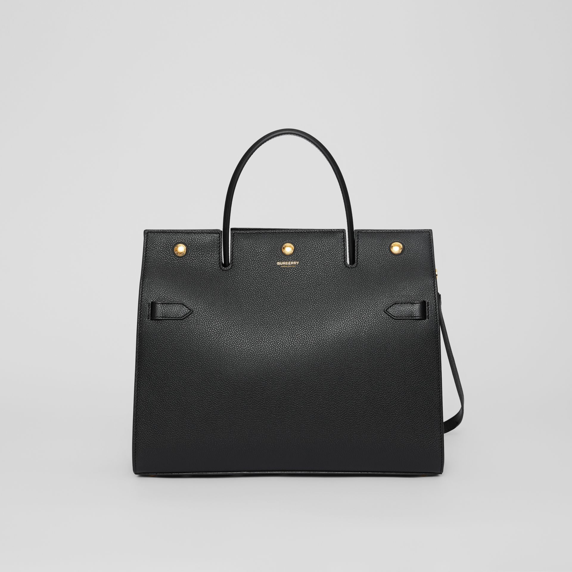 Medium Leather Title Bag in Black - Women | Burberry Singapore - gallery image 0
