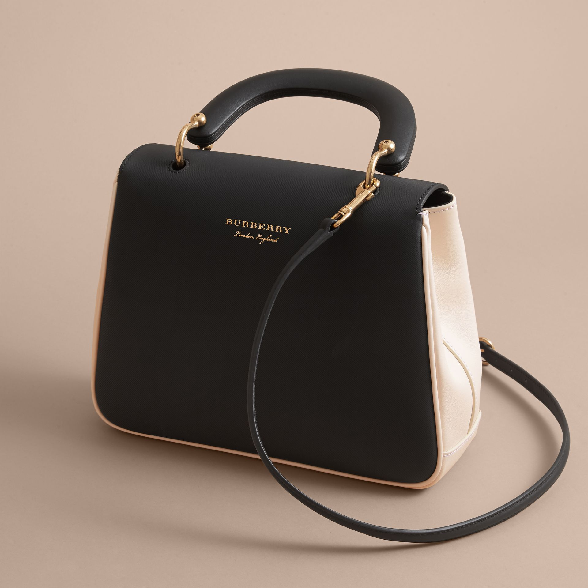 The Medium DK88 Top Handle Bag in Natural/black - Women | Burberry - gallery image 4