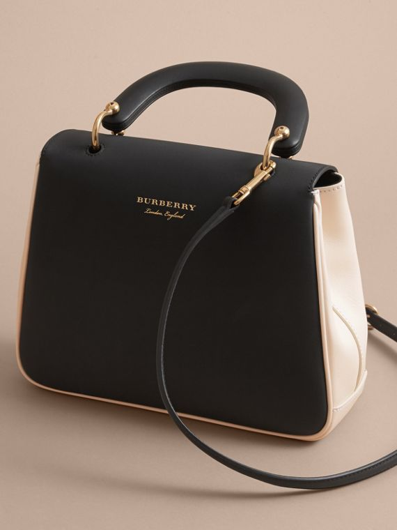 The Medium DK88 Top Handle Bag in Natural/black - cell image 2