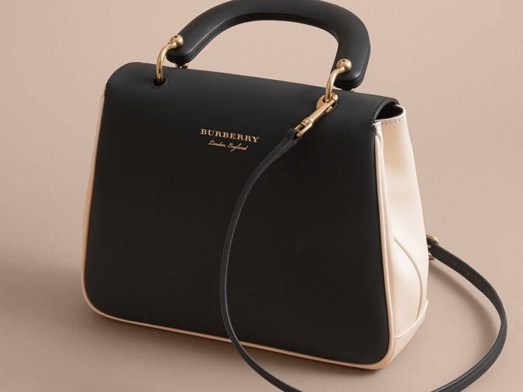 The Medium DK88 Top Handle Bag in Natural/black - Women | Burberry - cell image 4