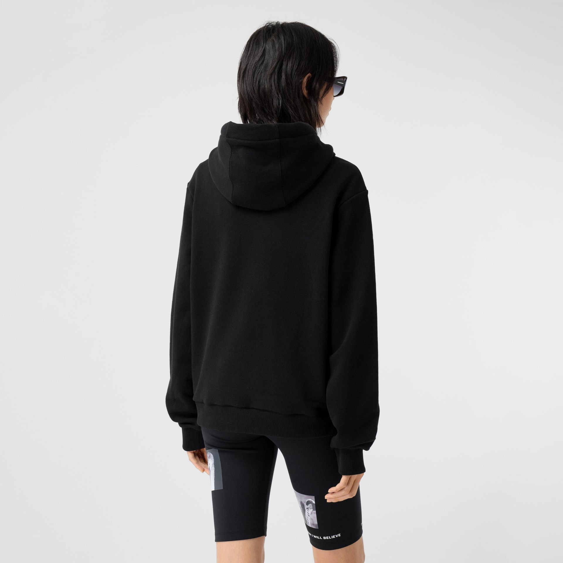 Unicorn Print Cotton Oversized Hoodie in Black - Women | Burberry Hong Kong S.A.R - gallery image 2