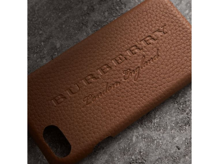 London Leather iPhone 7 Case in Chestnut Brown - Women | Burberry - cell image 1