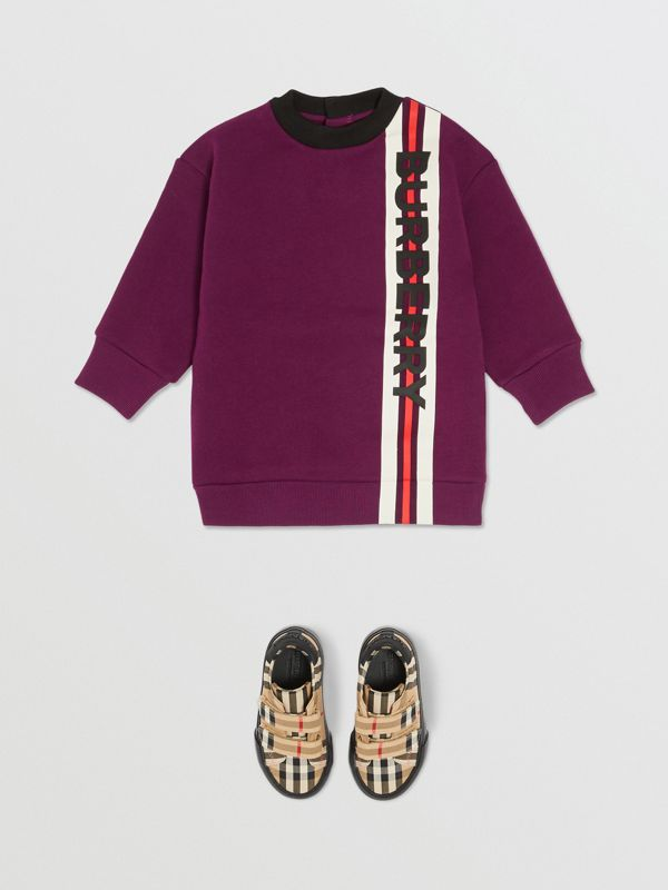 Logo Print Jersey Sweater Dress in Burgundy - Children | Burberry - cell image 2