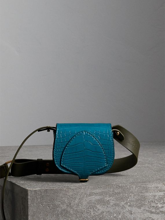 The Pocket Satchel in Alligator in Dark Teal