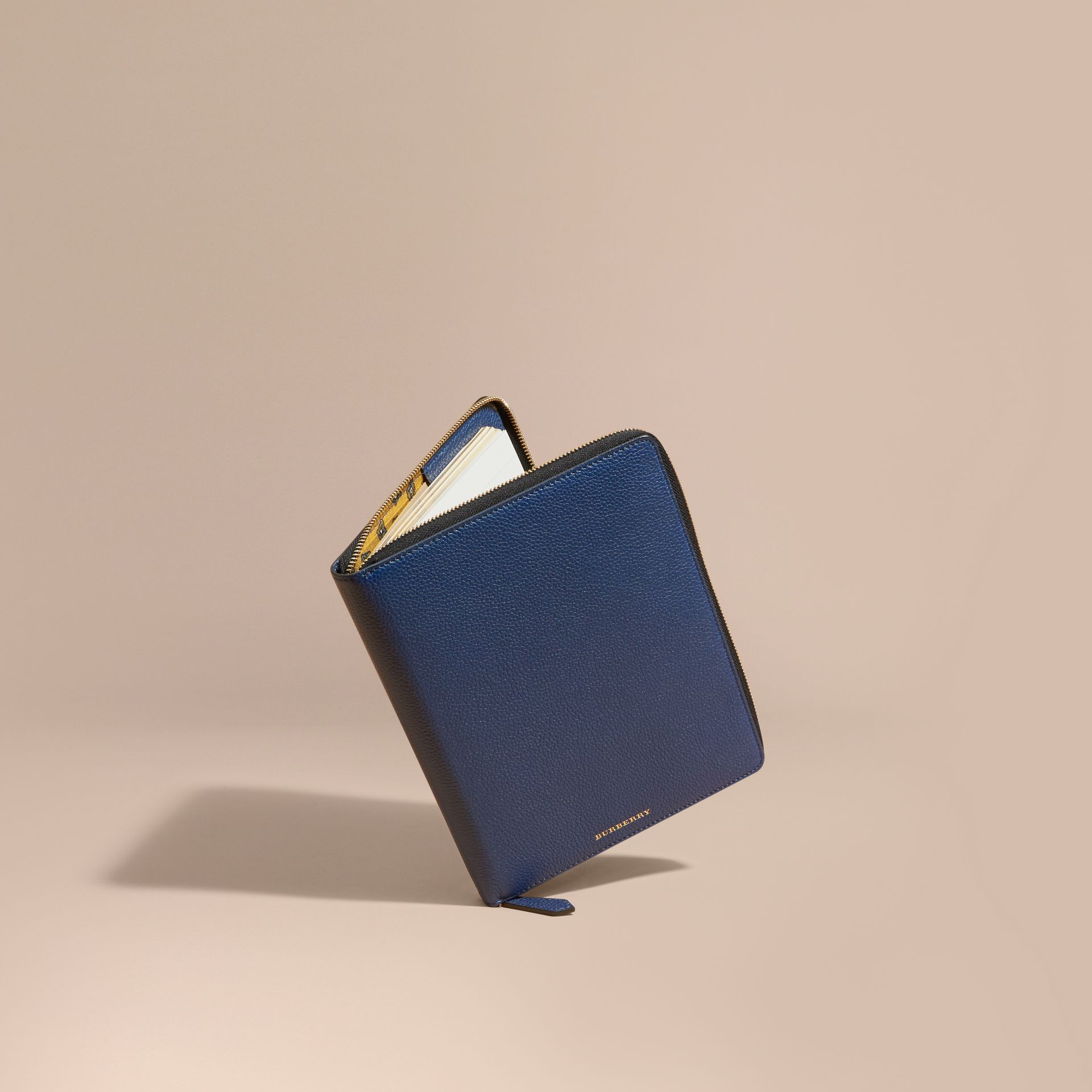 Bright navy Ziparound Grainy Leather A5 Notebook Bright Navy - gallery image 1