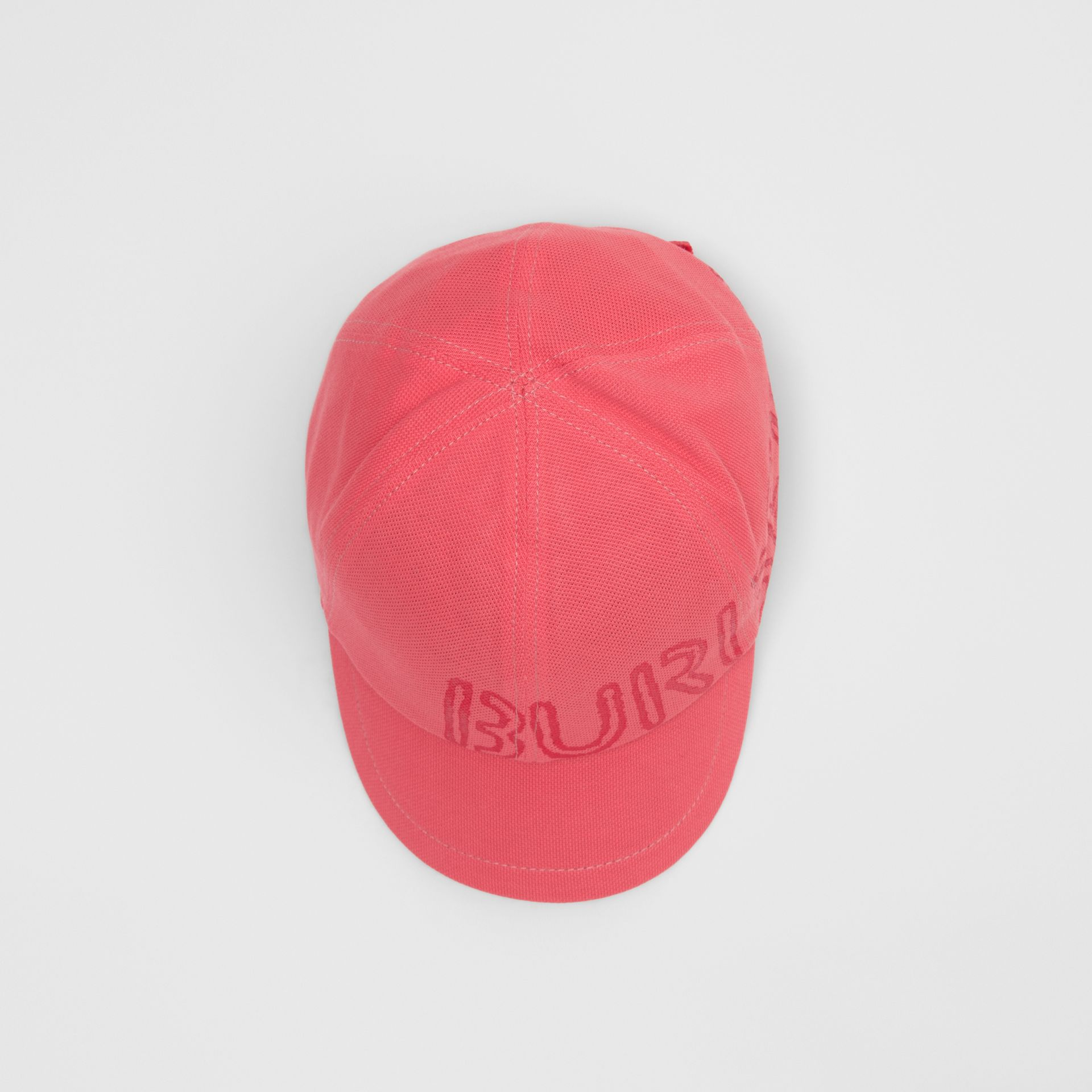 Stencil Logo Print Baseball Cap in Bright Pink/bright Red - Children | Burberry Australia - gallery image 3
