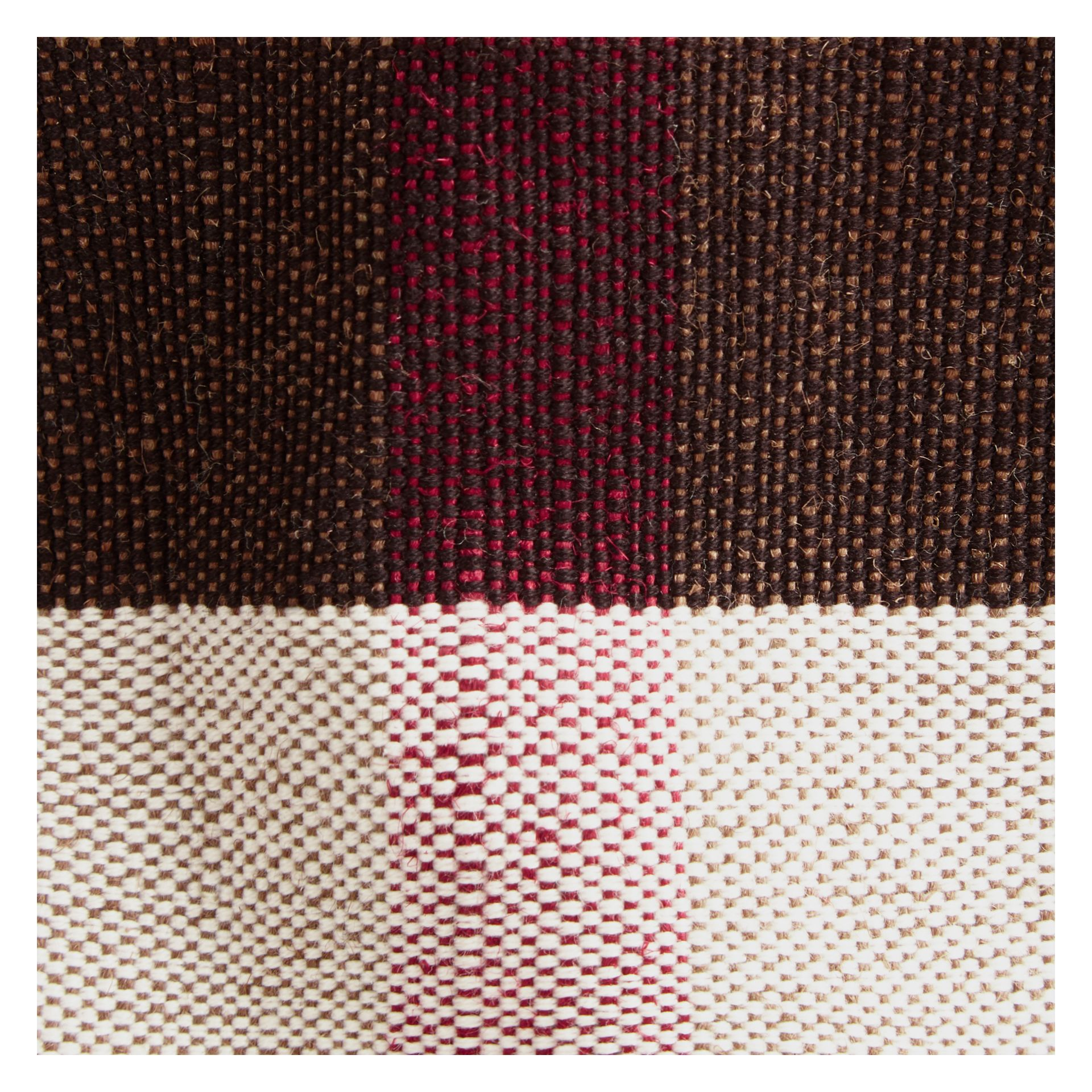 The Medium Ashby in Canvas Check and Leather Cadmium Red - gallery image 2