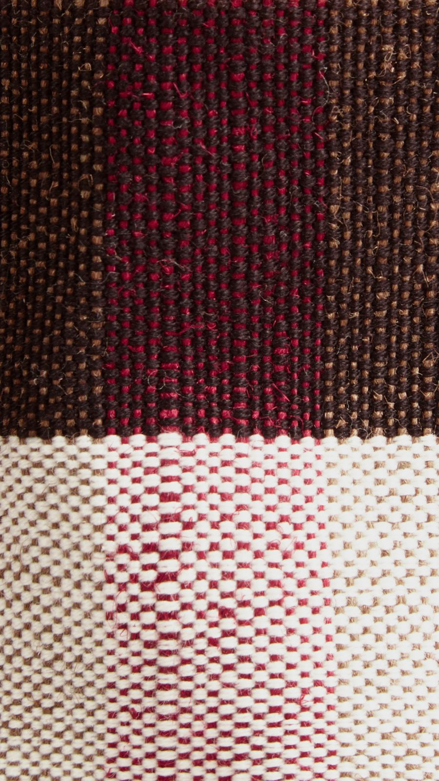 Cadmium red The Medium Ashby in Canvas Check and Leather Cadmium Red - Image 2