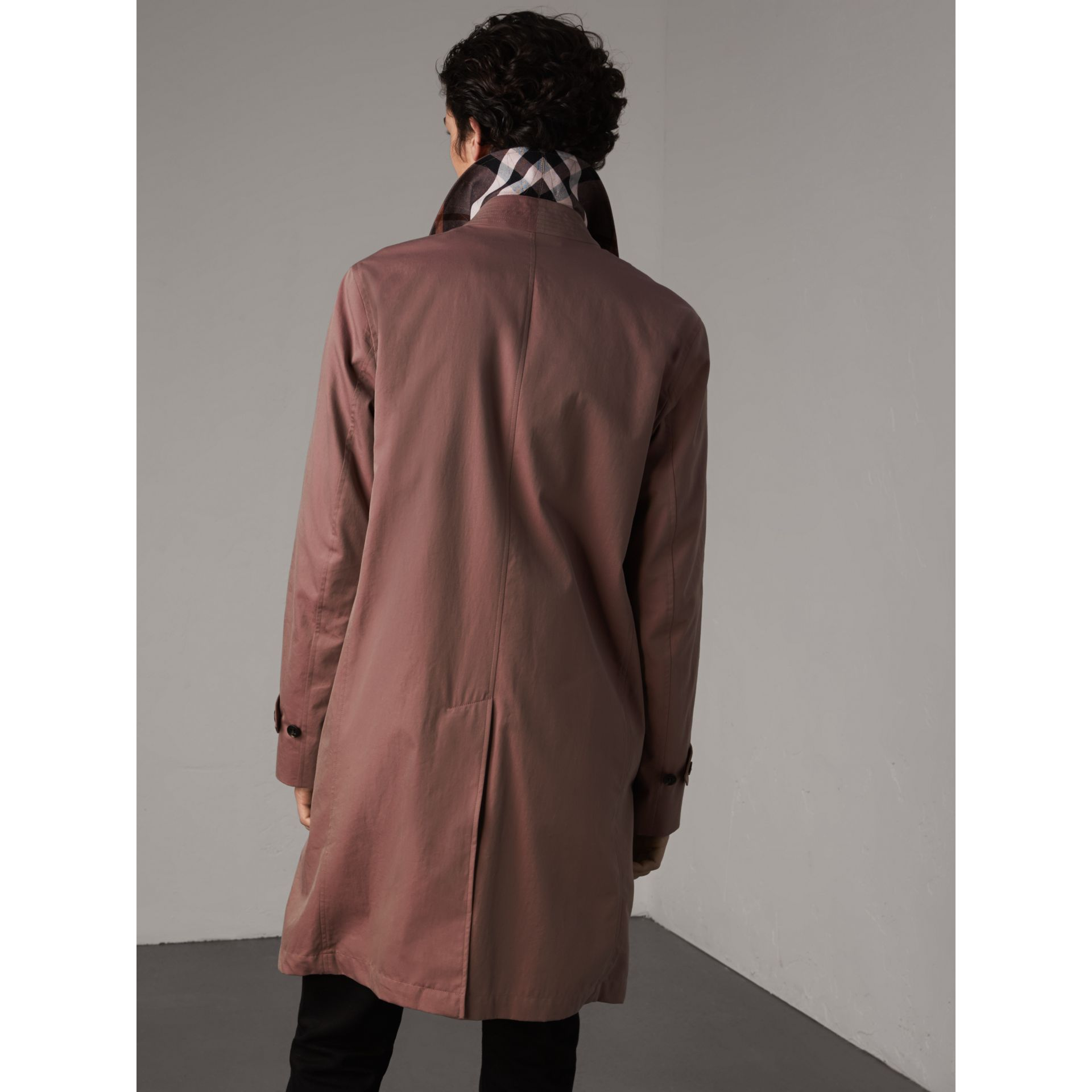 Tropical Gabardine Car Coat in Antique Rose - Men | Burberry - gallery image 3