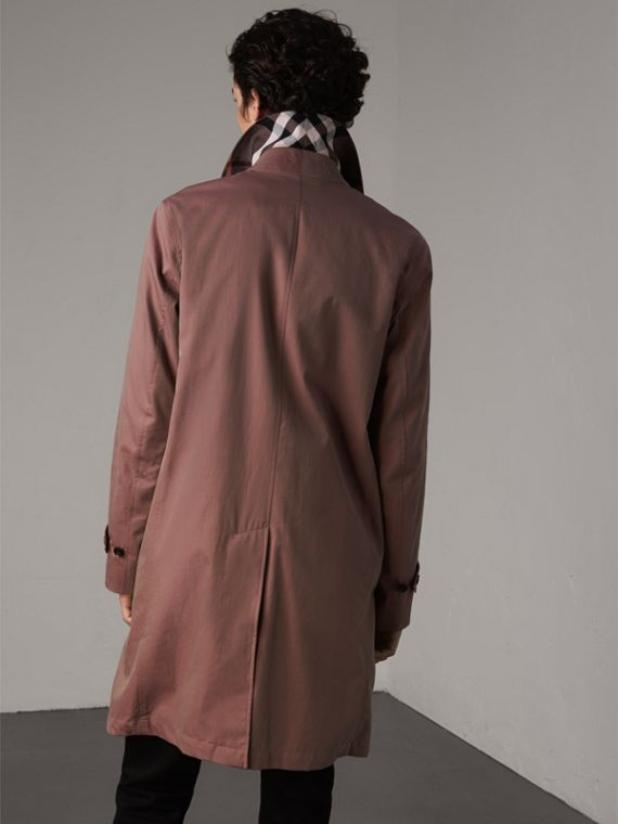 Tropical Gabardine Car Coat in Antique Rose - Men | Burberry - cell image 2