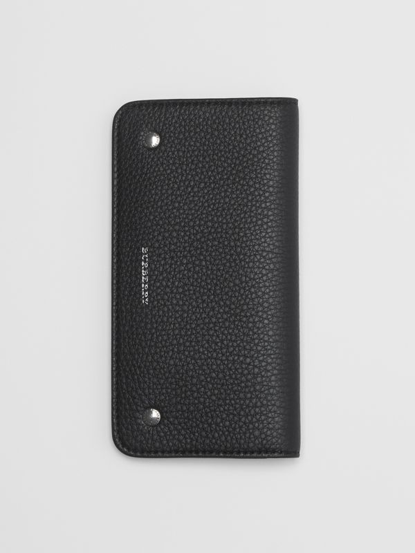 Leather Phone Wallet in Black - Women | Burberry United States - cell image 3