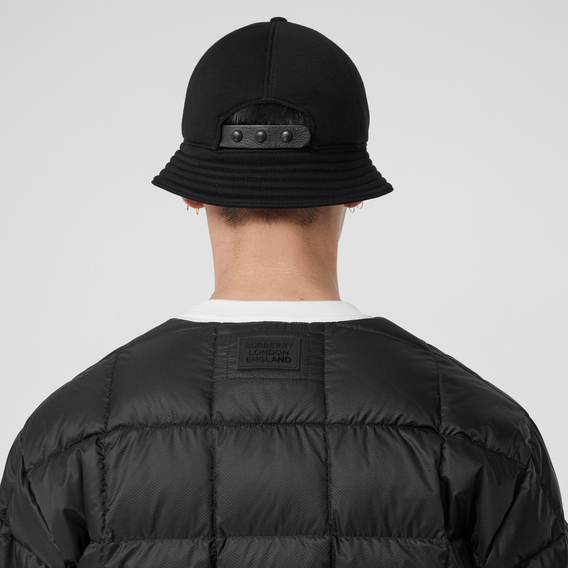 Veste en coton contrecollé avec gilet intérieur amovible (Noir) - Homme | Burberry - photo de la galerie 5