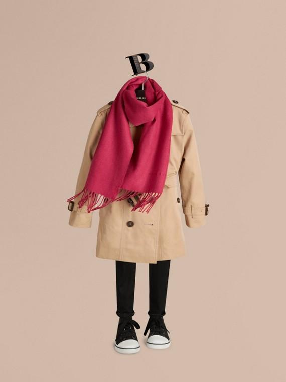 Rose fuchsia Mini écharpe classique en cachemire - cell image 2