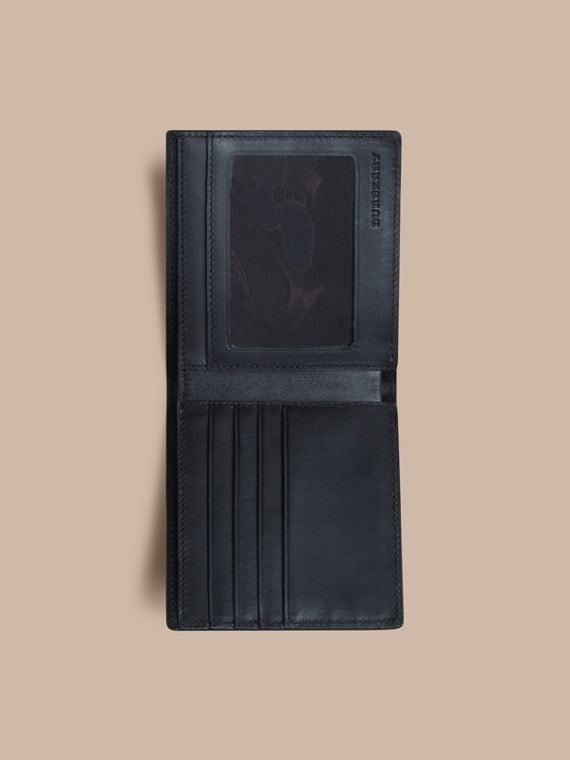 London Check ID Wallet in Navy/black - cell image 3