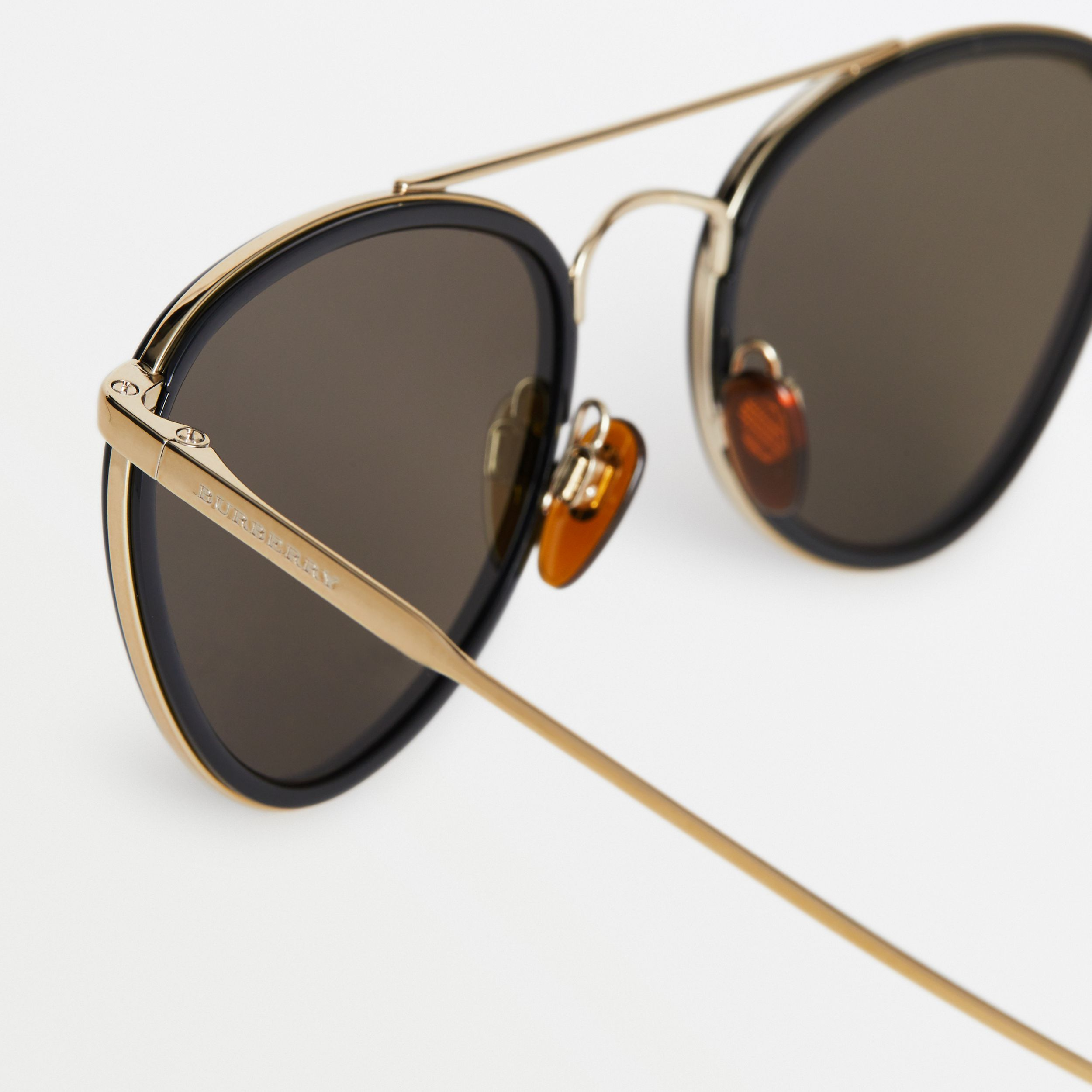 Pilot Sunglasses in Black - Women | Burberry - 2