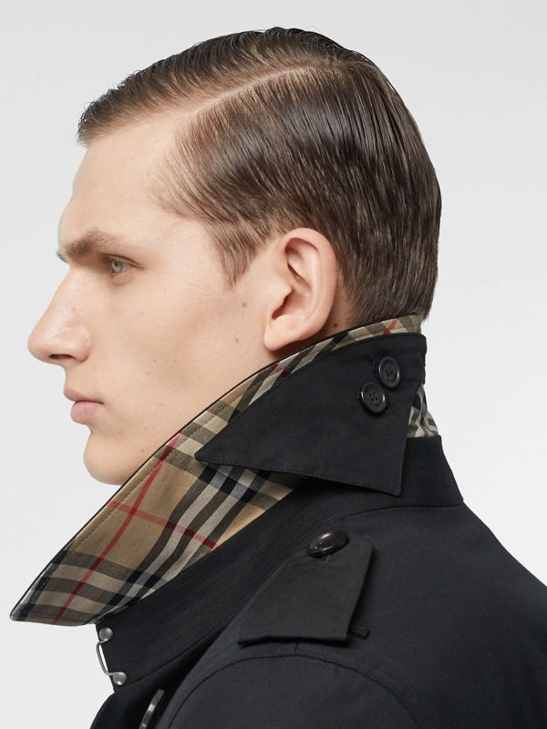 Cotton Gabardine Trench Coat in Black - Men | Burberry Australia - cell image 3