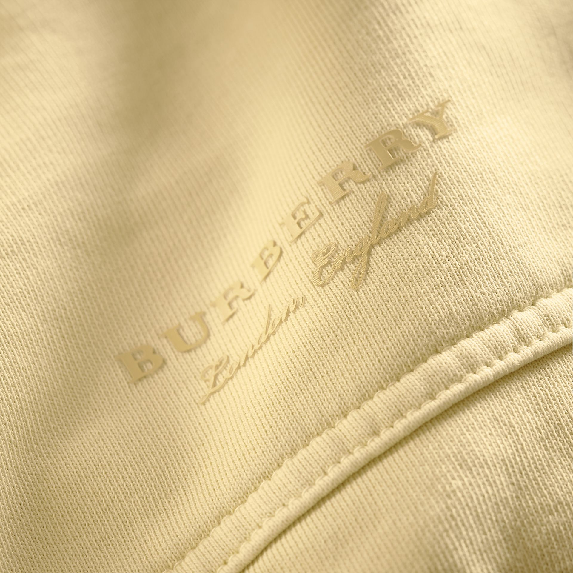 Unisex Pigment-dyed Cotton Oversize Sweatshirt in Pale Yellow - Women | Burberry Hong Kong - gallery image 2