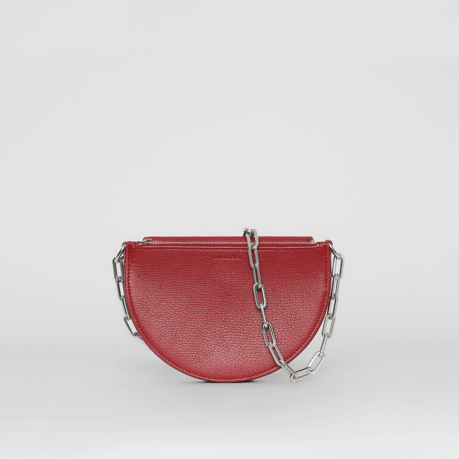 The Small Leather D Bag in Crimson - Women | Burberry - gallery image 0