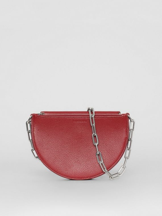 The Small Leather D Bag in Crimson