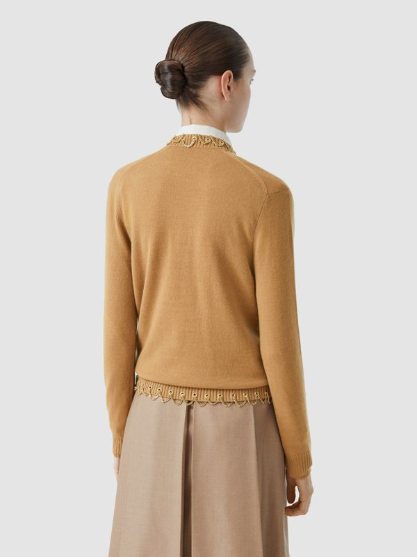 Chain Detail Cashmere Sweater in Camel - Women | Burberry United Kingdom - cell image 2
