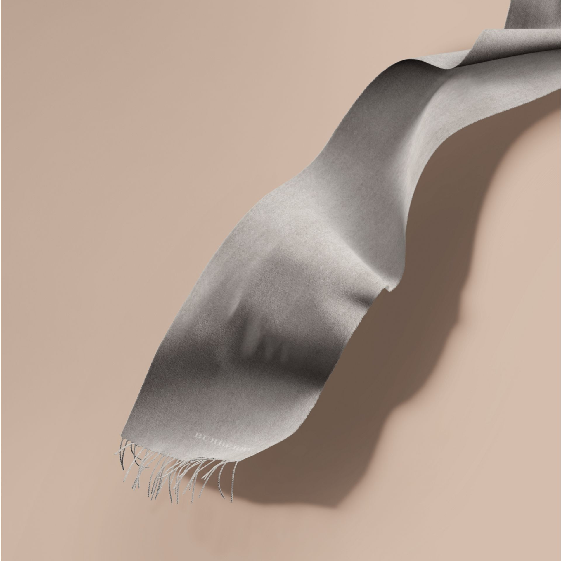 The Classic Cashmere Scarf in Pale Grey | Burberry - gallery image 1
