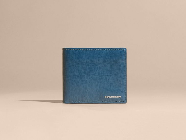 London Leather International Bifold Wallet in Mineral Blue - cell image 1