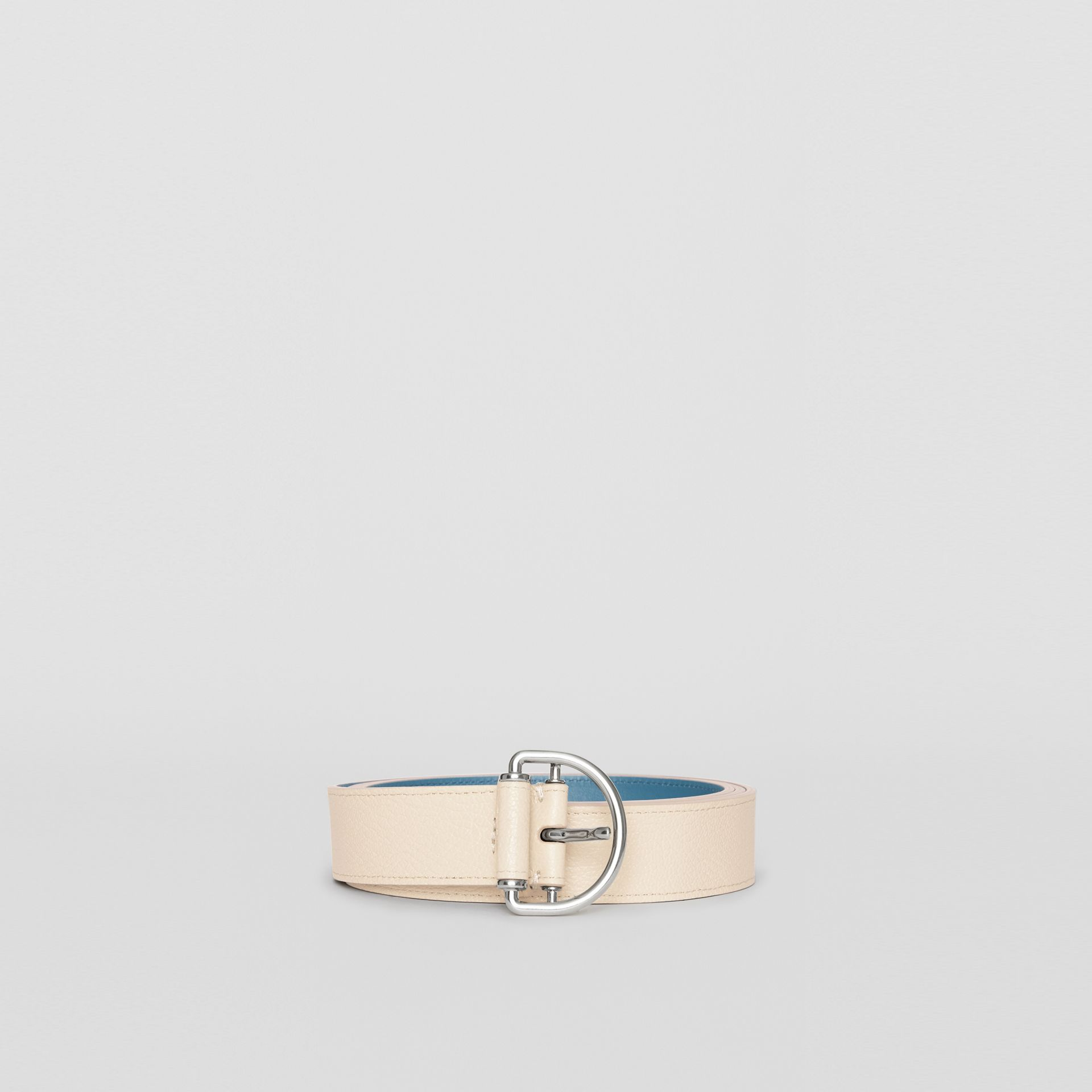 Grainy Leather D-ring Belt in Stone/pewter Blue - Women | Burberry - gallery image 3