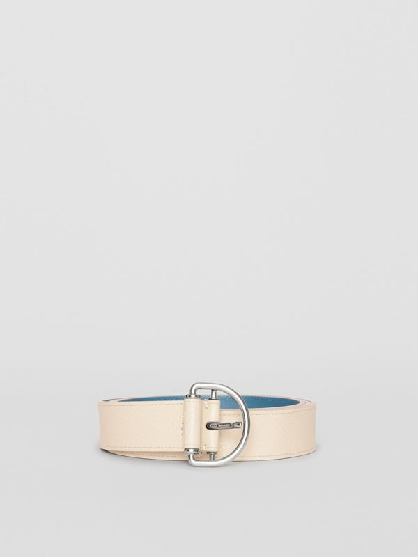 Grainy Leather D-ring Belt in Stone/pewter Blue - Women | Burberry United States - cell image 3