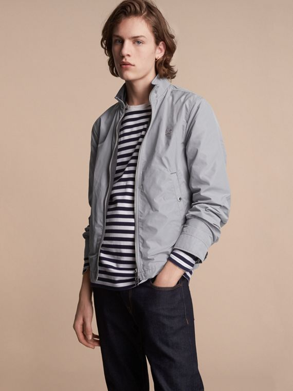Lightweight Technical Jacket in Light Grey - Men | Burberry