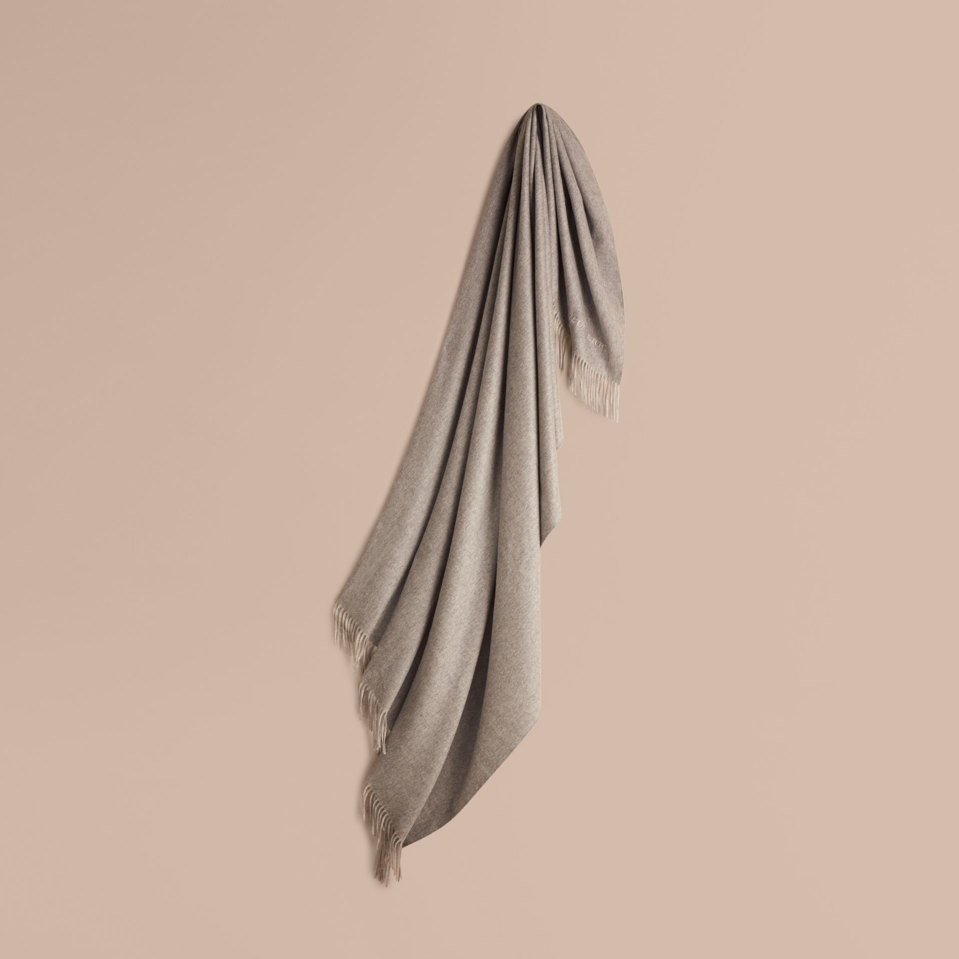 Cashmere Blanket in Pale Grey - gallery image 1