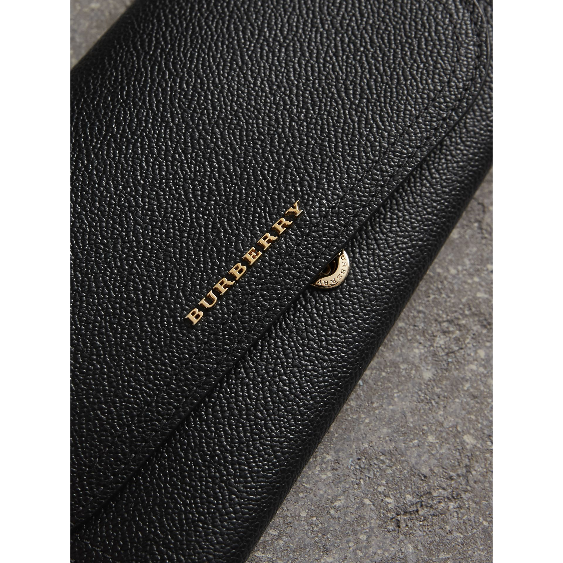 Leather Continental Wallet with Removable Coin Case in Black - Women | Burberry - gallery image 2