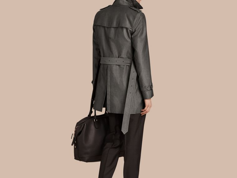 Slate grey Cotton Gabardine Trench Coat Slate Grey - cell image 1