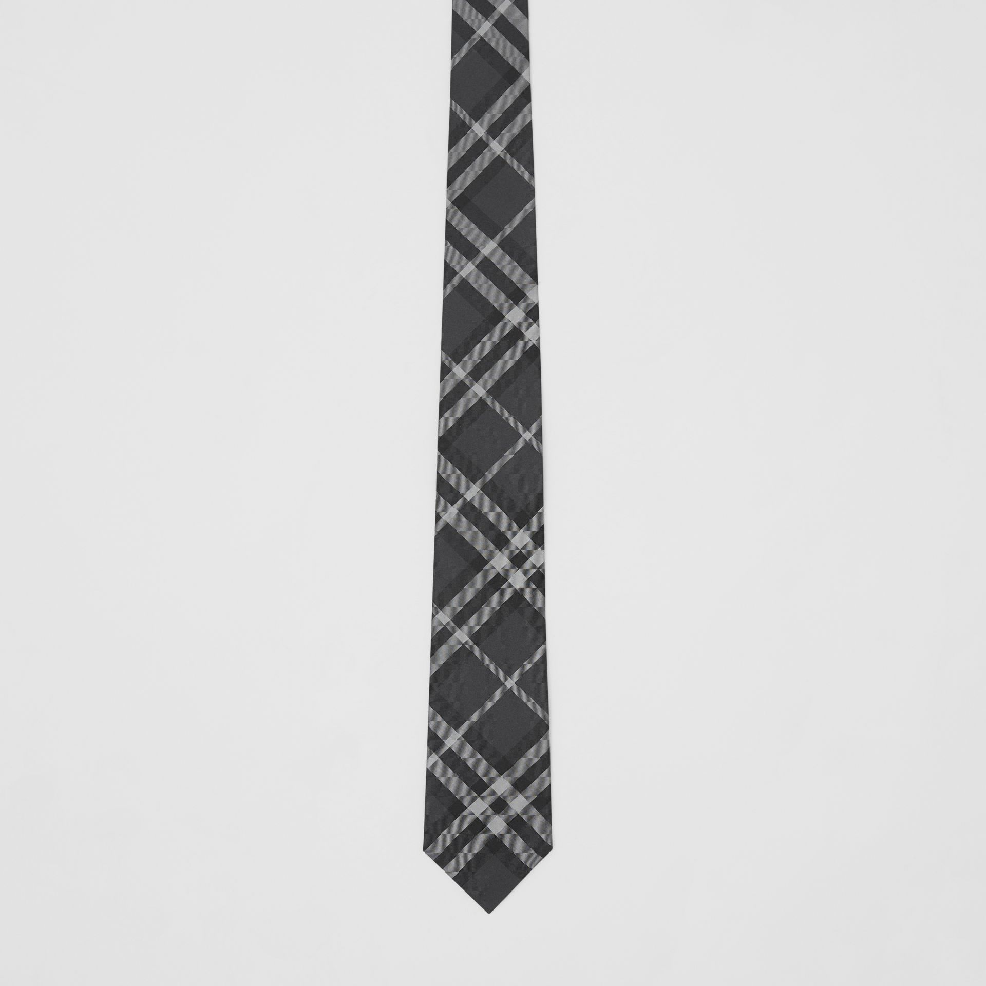 Classic Cut Vintage Check Silk Tie in Charcoal - Men | Burberry Singapore - gallery image 3
