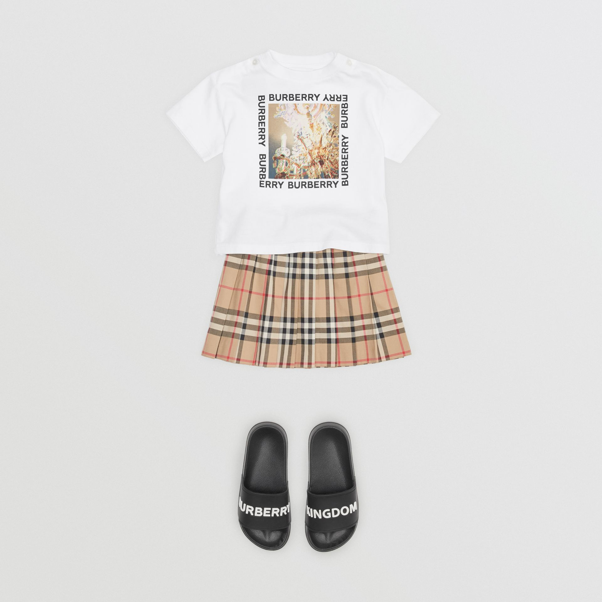 Chandelier Print Cotton T-shirt in White - Children | Burberry - gallery image 2