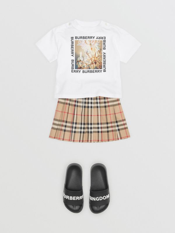 Chandelier Print Cotton T-shirt in White - Children | Burberry - cell image 2