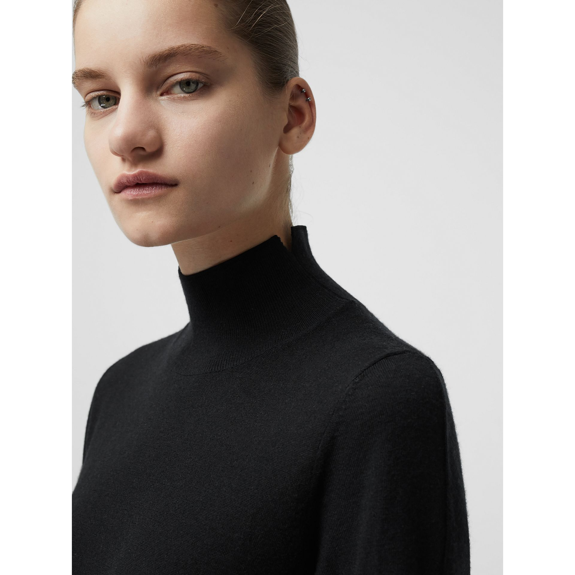 Cashmere Turtleneck Sweater in Black - Women | Burberry Australia - gallery image 1