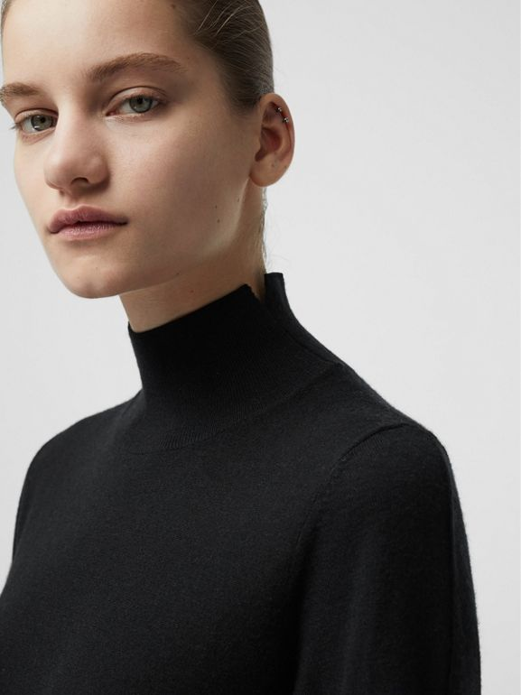 Cashmere Turtleneck Sweater in Black - Women | Burberry Australia - cell image 1