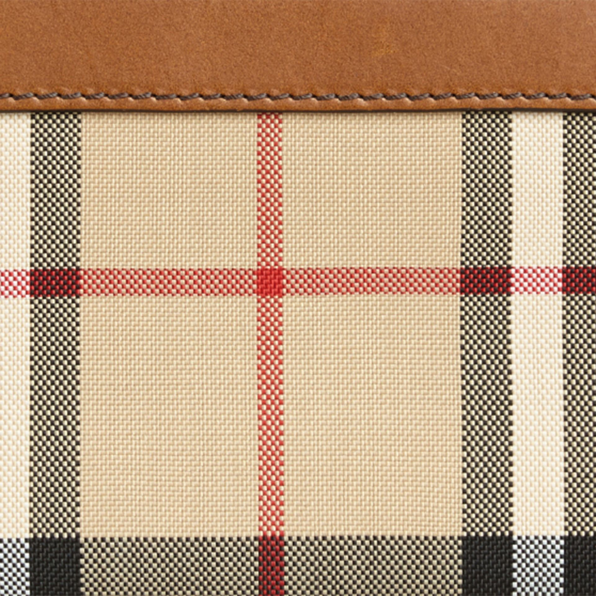Horseferry Check Ziparound Wallet Tan - gallery image 2