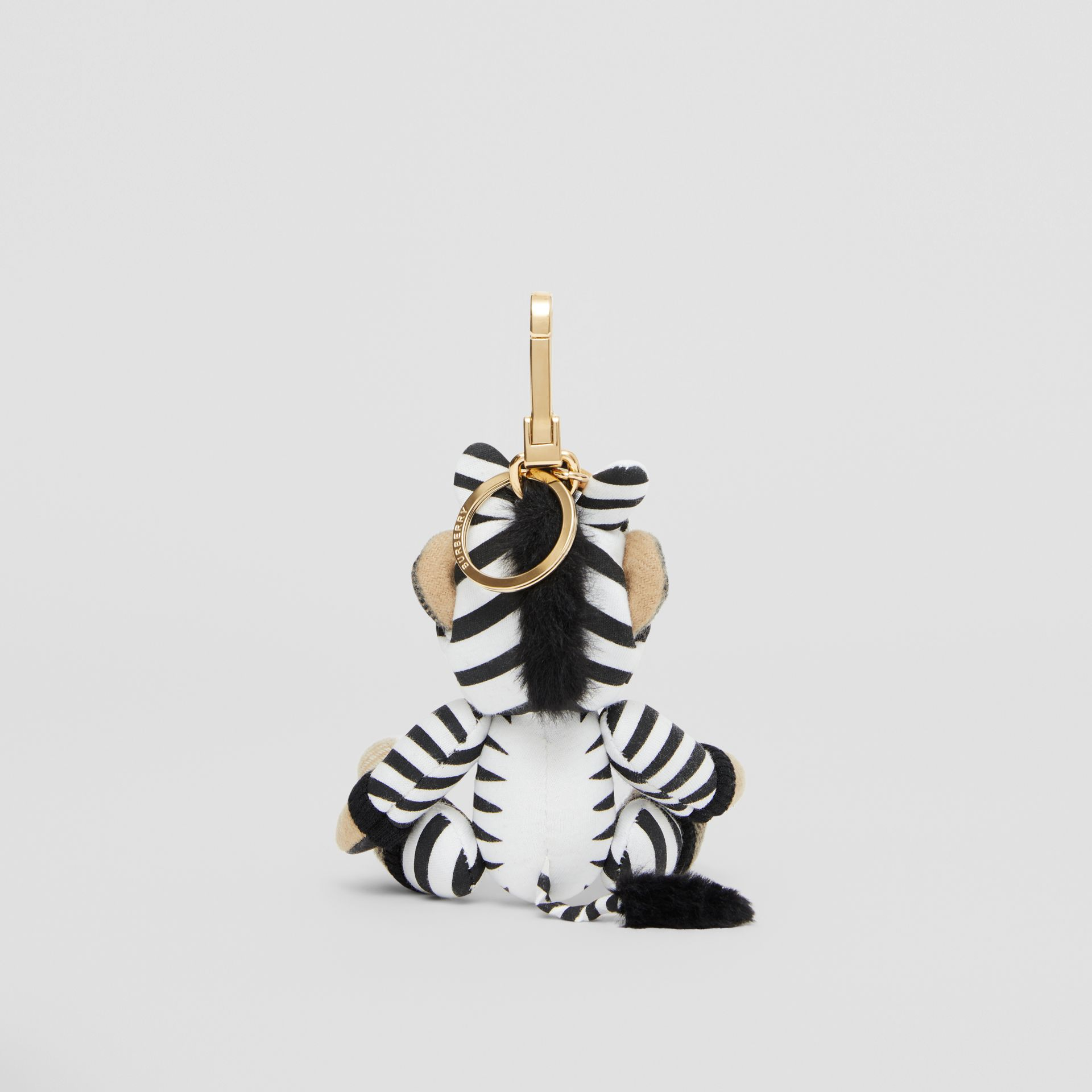 Thomas Bear Charm in Zebra Costume in Archive Beige - Women | Burberry - gallery image 3