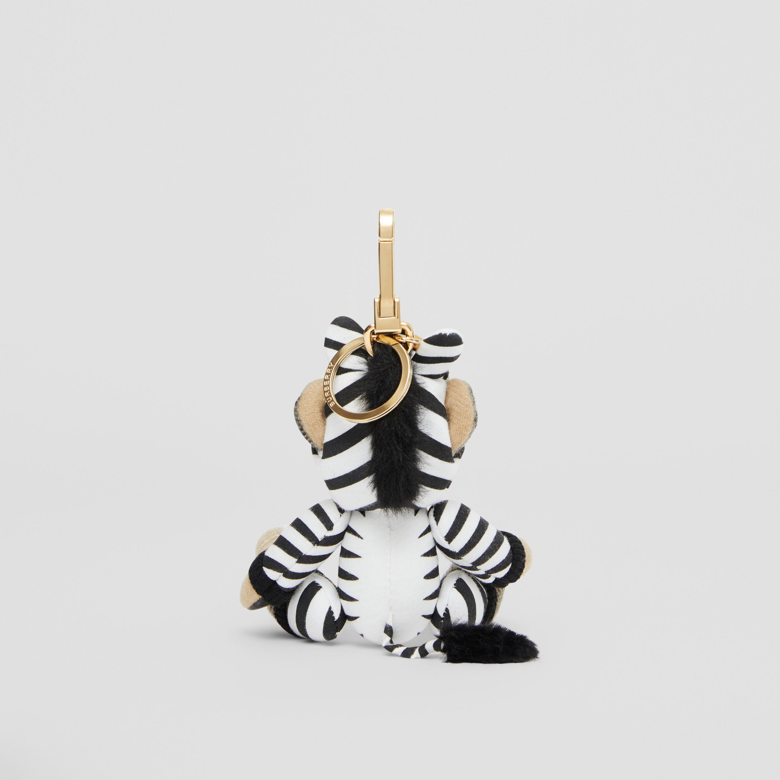 Thomas Bear Charm in Zebra Costume in Archive Beige - Women | Burberry Canada - 4