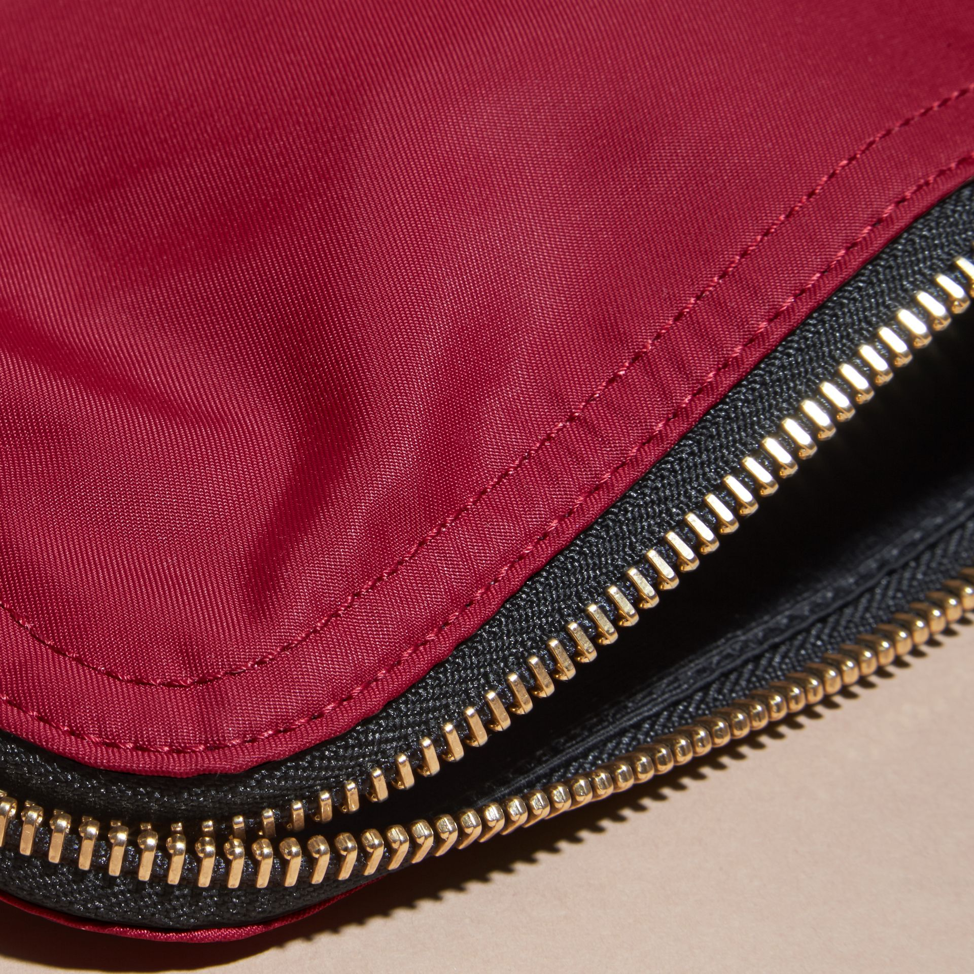 Large Zip-top Technical Nylon Pouch Parade Red - gallery image 6